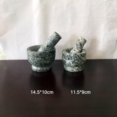 Production of garlic mortar pounding garlic mortar processing roast meat stone dish processing stone bowl pot 340mm Korea