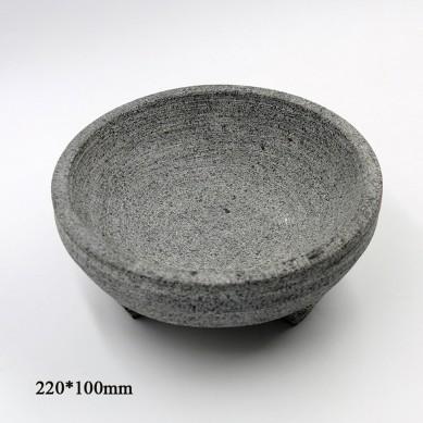 Production of Stone Pot, Stone Pot, Mix Rice, Barbecue Pan, Tripod Stone Bowl, Stone Pot, Stone Pot, Stone Pot, 19-22cm