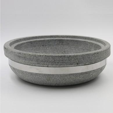 Stone Pot Natural Stone Pot Mixing Rice Stone Bowl Crack Resistant Stone Hot Pot 18-30cm