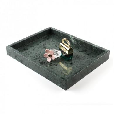 Twórczy Home Deluxe Natural zielonego marmuru Kamień Vanity Podajnik ręczników