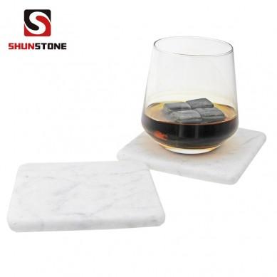 SHUNSTONE square coaster in carrara marble material