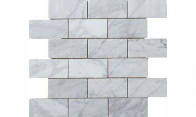 "Hot Selling Polished Italian 3""*6"" Brick Natural Carrara White Marble"