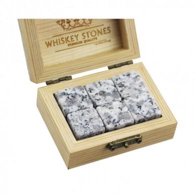 2019 Amazon Best Product Bar Tools Gift Item New 6 pcs of Whiskey Rock Stone Cube Whisky Chilling Ice Cube Ice Stone Creative Gift Set