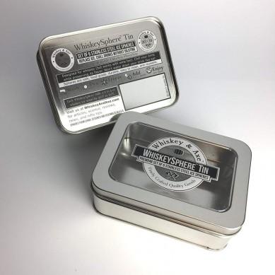 Whiskey & Axe – Premium Set of 6 Stainless Steel Ice Spheres – Chills Better than Whisky Stones – Whiskey Sphere Tin