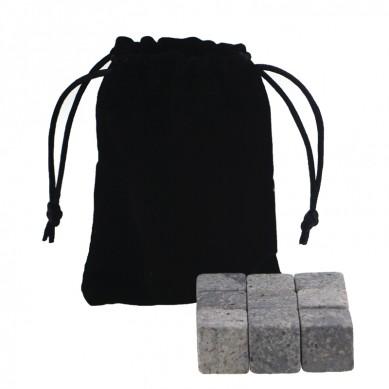 Hot whsiky set  Whiskey Stones with Black Velvet bag