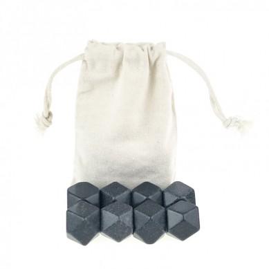 Wholesale Diamond Whisky Ice Rocks Promotional whiskey Stone Ice Cube with cotton bag