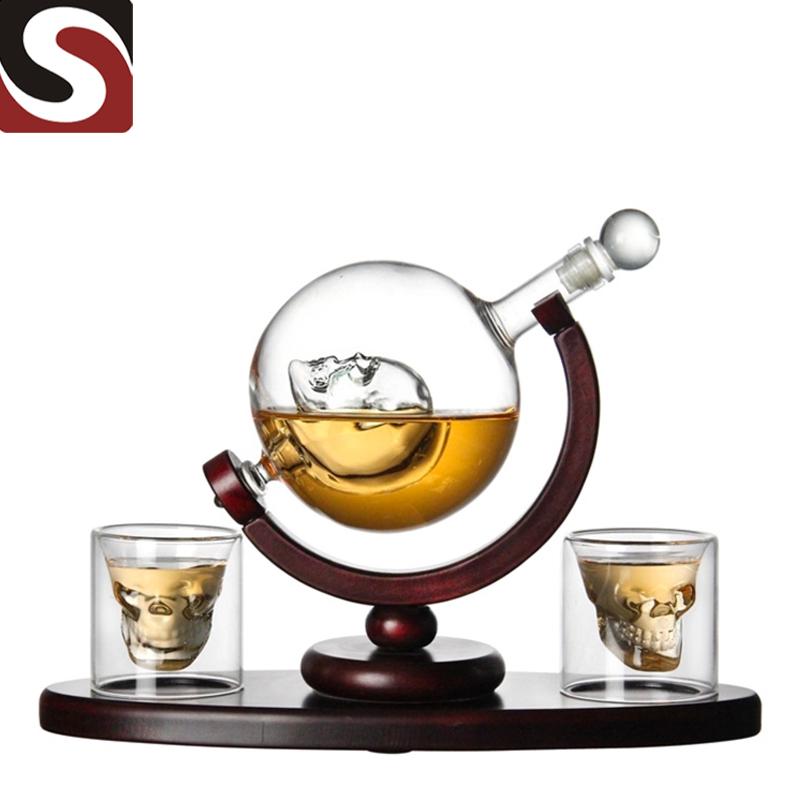 Factory wholesale Hip Flask - Globe Bottle Glass Wine Bottle  – Shunstone