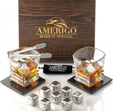 Low MOQ for Wooden Box For Gift – Whiskey & Axe – Premium Set of 6 Stainless Steel Ice Spheres – Chills Better than Whisky Stones – Whiskey Sphere Tin – Shunstone