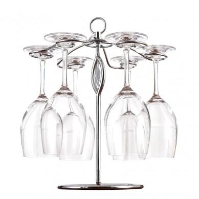 Chinese OEM factory Pro Wine Glass Rack Under Cabinet Stemware Wine Glass Holder Glasses Storage Hanger Metal Organizer
