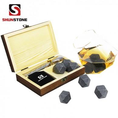 Factory price Gift set 6 pcs of Diamonds whiskey rocks, whiskey stones,wholesale whiskey stones