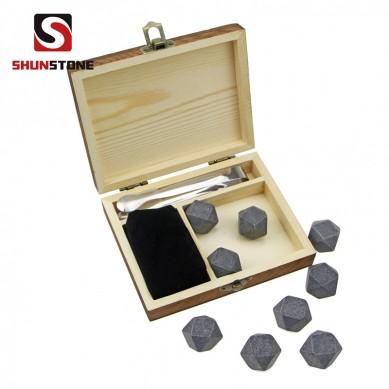 High quantity chilling stone Gift set 9 pcs of Diamonds whiskey rocks, whiskey stones,wholesale whiskey stones
