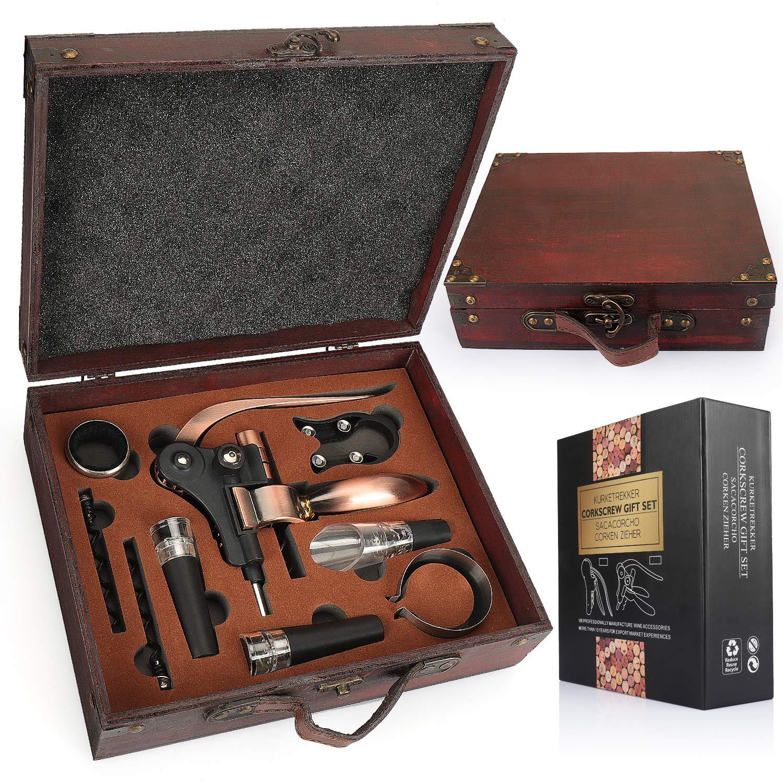 SHUNSTONE Antique Wooden Box Rabbit Wine Corkscrew Wine Accessories Gift Set Featured Image