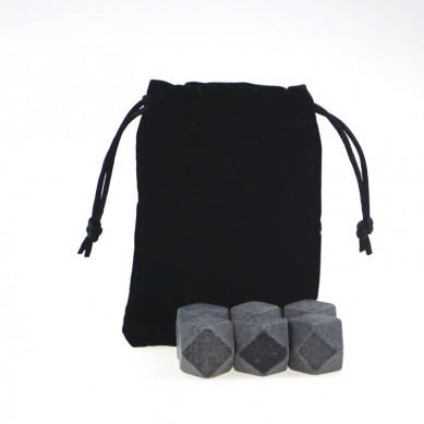 High quality diamond shape Chilling Stones Granite set ice cube stone