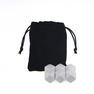 Best selling Whiskey Stones Granite set diamond shape ice cube stone