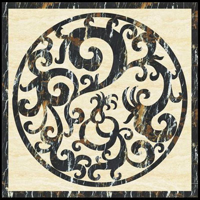 Design hotel round marble floor medallion Featured Image