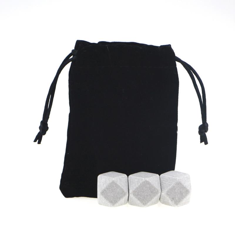 Best selling Whiskey Stones Granite set diamond shape ice cube stone Featured Image