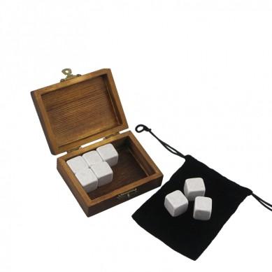 9 pcs of Cinderella Whisky Stones Souvenir Chilling Whiskey Stones Bar Accessories  Whiskey Stones Velvet Bag