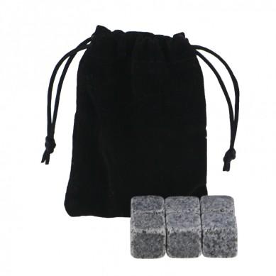 Wholesale G654 Whiskey Stones with Black Velvet bag
