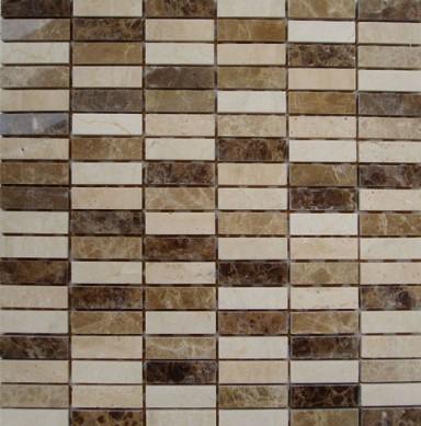 prefab marble limestone mosaic stone ,china golden limestone mosaic tile for wall decoration
