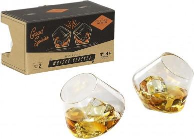 Gentlemen's Hardware Rock &  Roll Rocking Whiskey Glasses best wine gift for 2021 christmas