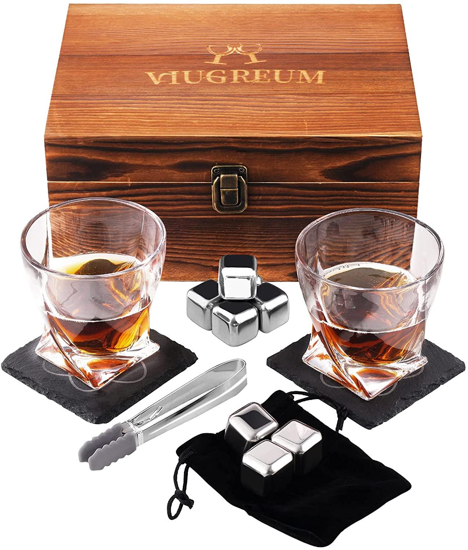 Whiskey Glass Set Whisky Rocks Cooling Stone Men's Whiskey Gift Set Featured Image