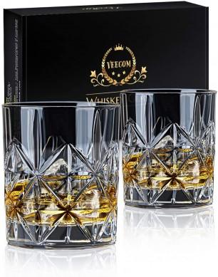 Lead free Glasses Thick Bottom Bourbon Glasses Tumbler gift box for Home Bar
