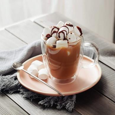 Double wall Coffee Mugs Coffee Glass 16oz 500ml Double Wall Tea Cup Glass Coffee Mug