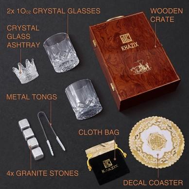 Stainless Steel Whiskey Stones Whiskey Glass Whiskey Bourbon wine Gift Set for Men