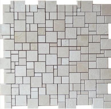 Prefab marble basket mosaic pattern ,stone mosaic for interior walls marble mosaic travertine tiles emperedor