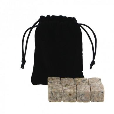 Factory price G682 Whiskey Stones with Black Velvet bag