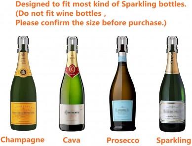 Champagne Sealer Stopper red wine whiskey Stainless Steel  Wine Bottle stopper