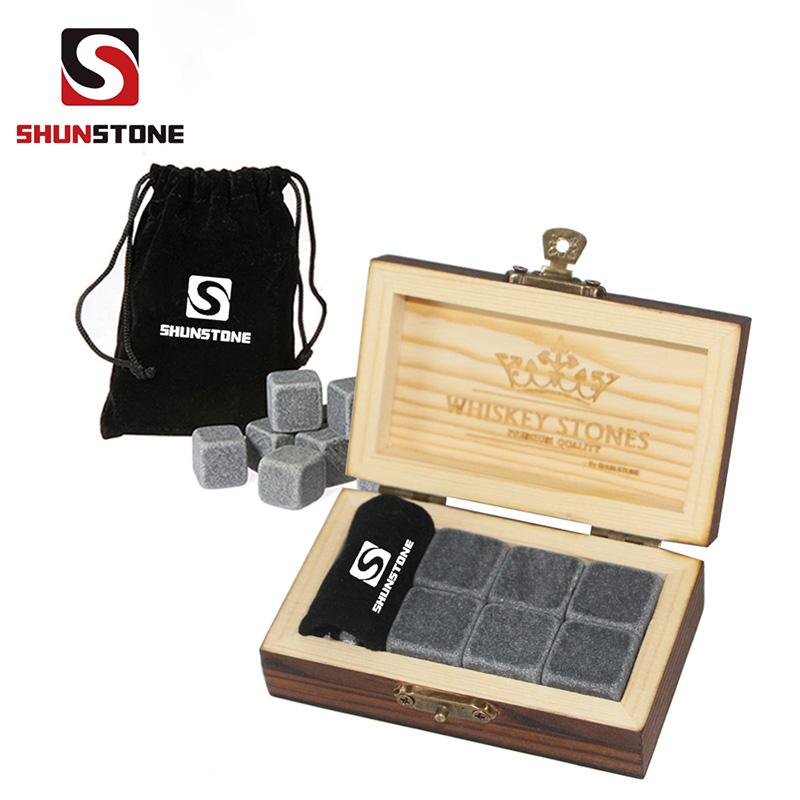 100% Original Whiskey Stones Round - 6 pcs of Bar Accessories Whiskey stone Ice Cubes Reusable Ice Cubes Business Promotion Gift Reusable Ice Cubes Wholesale Whiskey Stones – Shunstone
