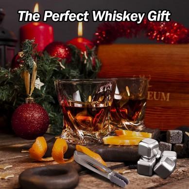Whiskey Glass Set Whisky Rocks Cooling Stone Men's Whiskey Gift Set