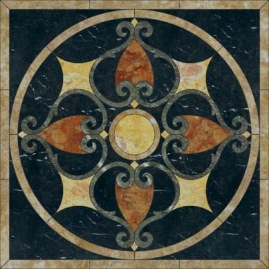 hotel backdrop marble mosaic medallion design, marble mosaic floor medallion,Flowery Marble Mosaic Stone Floor Rug Art