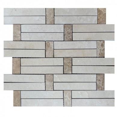 Carrara White Italian Carrera Marble Daisy Field Flower Water Jet Mosaic Tile Honed 3d shaped marble mosaic tiles