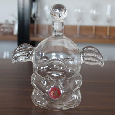 1000ml pig shape glass wine bottles