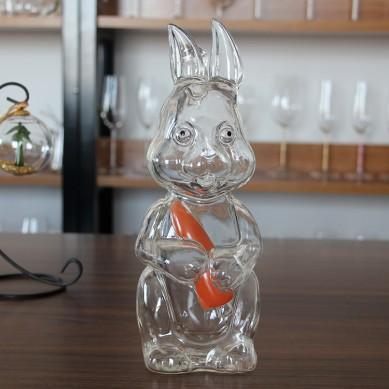 1000ml wholesale rabbit shape glass vodka liquor bottles