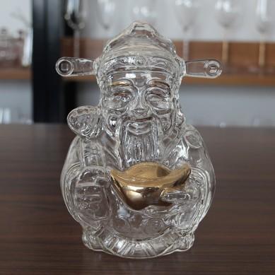 Custom 2000ml clear Mammon vodka liquor spirits glass wine bottle