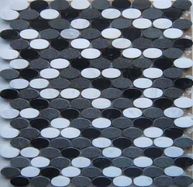 wholesale high quality Waterjet Marble Mosaic floor Backsplash Tile Carrara marble mosaic tile