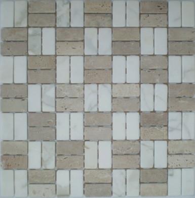 Bianco Carrara White Marble Mosaic for washroom flooring