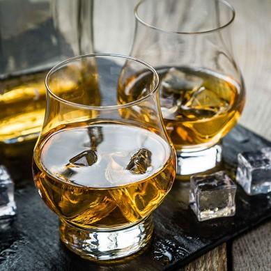 Whiskey Glass Set of 2 10.5oz Rocks Glasses. Glassware for Scotch & Bourbon