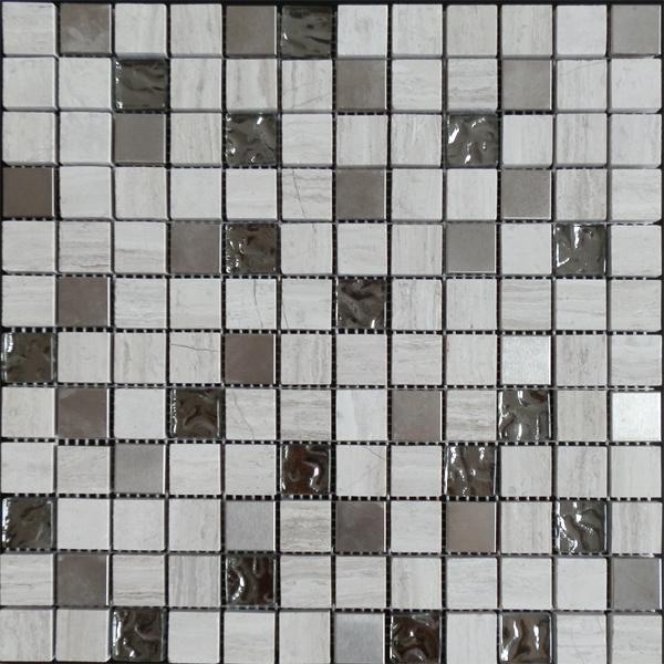 Factory direct sale mix brick marble mosaic art stone ,chinese yellow mosaic tile ,stone travertine mosaic and pattern tile Featured Image
