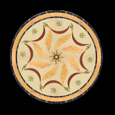 Design hotel round marble floor medallion