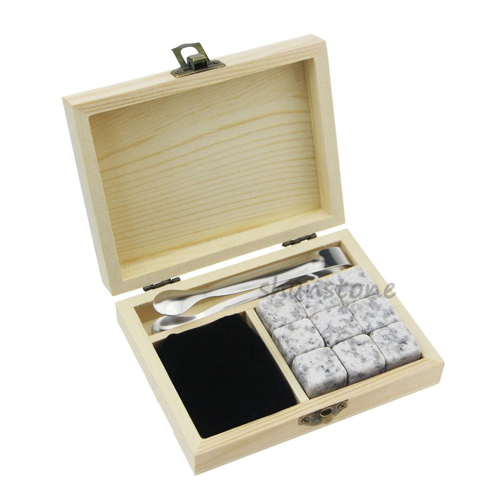 Massive Selection for Metal Ice Cubes - Log colour/OEM Customized Stones High Quality Manufacturer 6 pcs of tones Ice Cubes Whiskey Creative Gift Set Custom Whiskey Wine Ice Stone  – Shunstone
