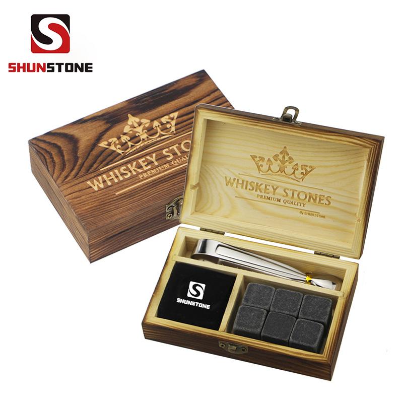 High Quality for Black Rocks - high quantity and Cheap Gift set 6 pcs of unpolish Mongolian ash whiskey rocks, whiskey stones,wholesale whiskey stones  – Shunstone