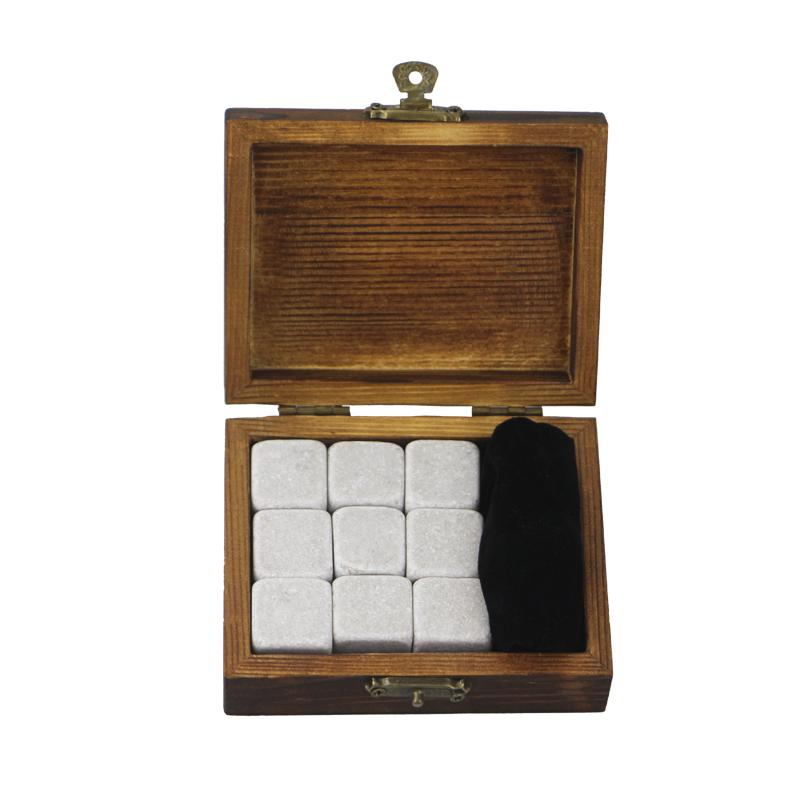 9 PCan de Cinderella Uisge Beatha Clachan Souvenir Chilling Uisge Beatha Stones Bar Accessories Uisge Beatha Clachan Velvet Bag Ìomhaigh Bhùth