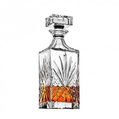 Crystal Decanter for Liquor, Whiskey, and Bourbon – 25 Oz. Lead Free  Irish Cut design