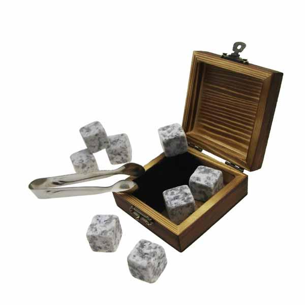 Lowest Price for Whisky Stone Set - 6pcs of 603 Whisky Stones Cold Rocks For Drinks + velvet bags + inside and outside burning wooden boxes Natural Granite Whiskey Stones Gift Set – Shunstone