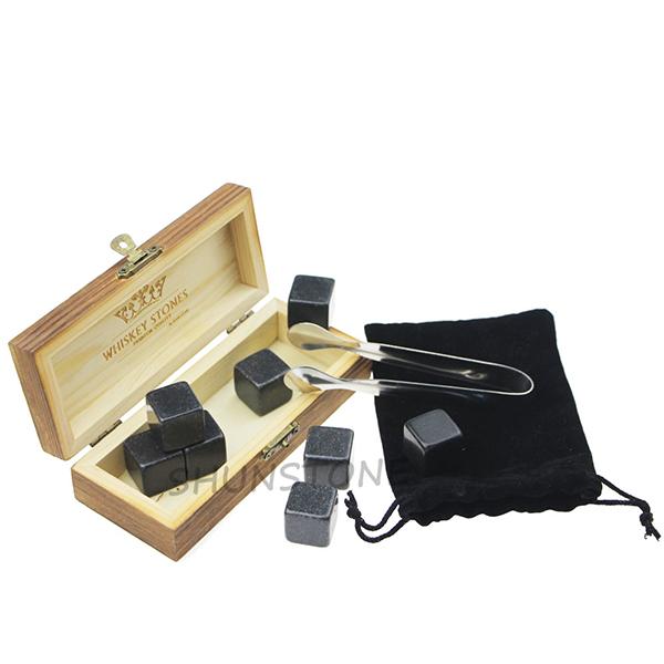 OEM/ODM Supplier Black Whiskey Stones - Whiskey Stone Set Luxury Gift Set Whisky Reusable Ice Cubes Best Products of Natural Whiskey Ice Stone for Gift – Shunstone