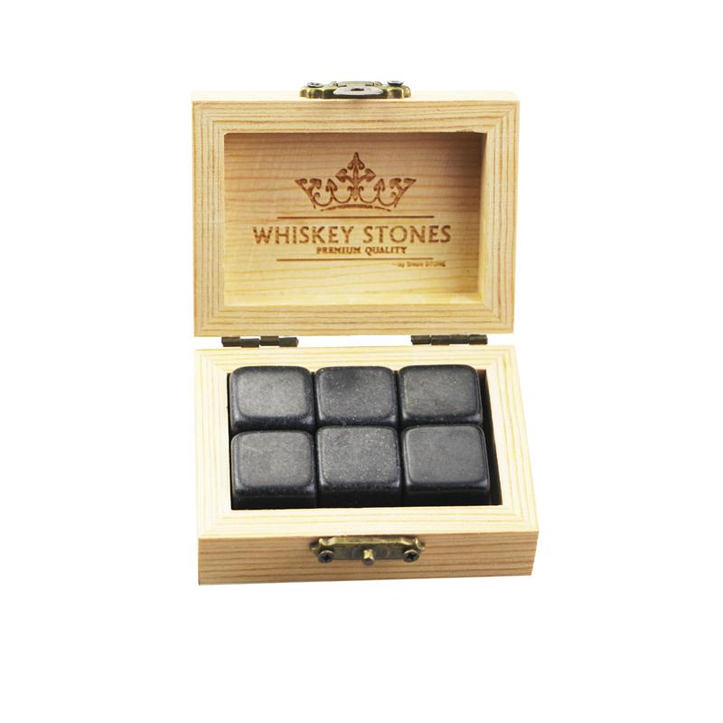 OEM Customized Whisky Ice Cube Stones - Popular product 6 pcs of polish Mongolia Black Stones Whiskey Chilling Rocks Customize Packaging Whiskey Stones Set of 6 Natural  Cubes – Shunstone Featured Image